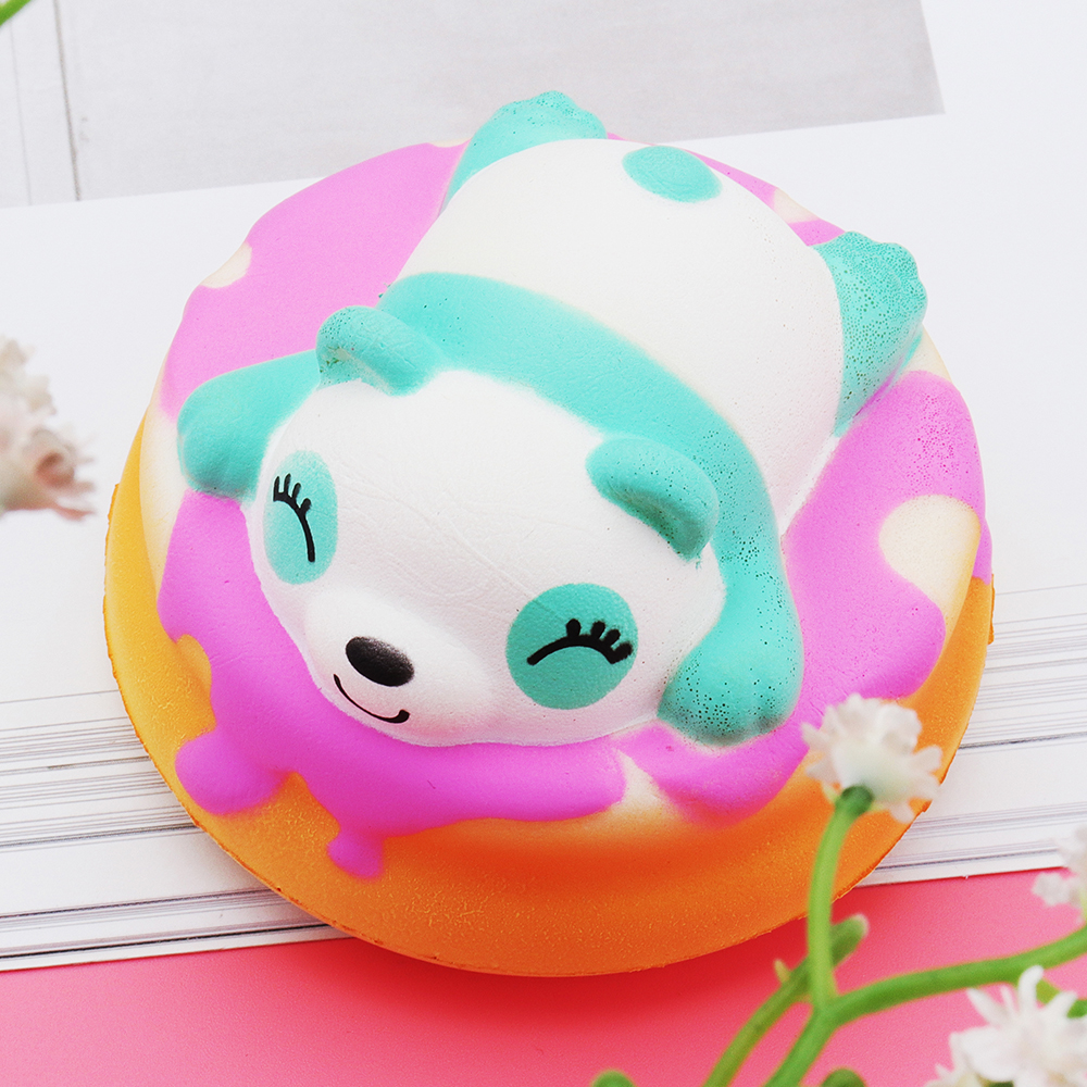 Meistoyland Squishy Panda Cake Soft Slow Rising Toy Kawaii Animal Cartoon Toy Gift Pendant