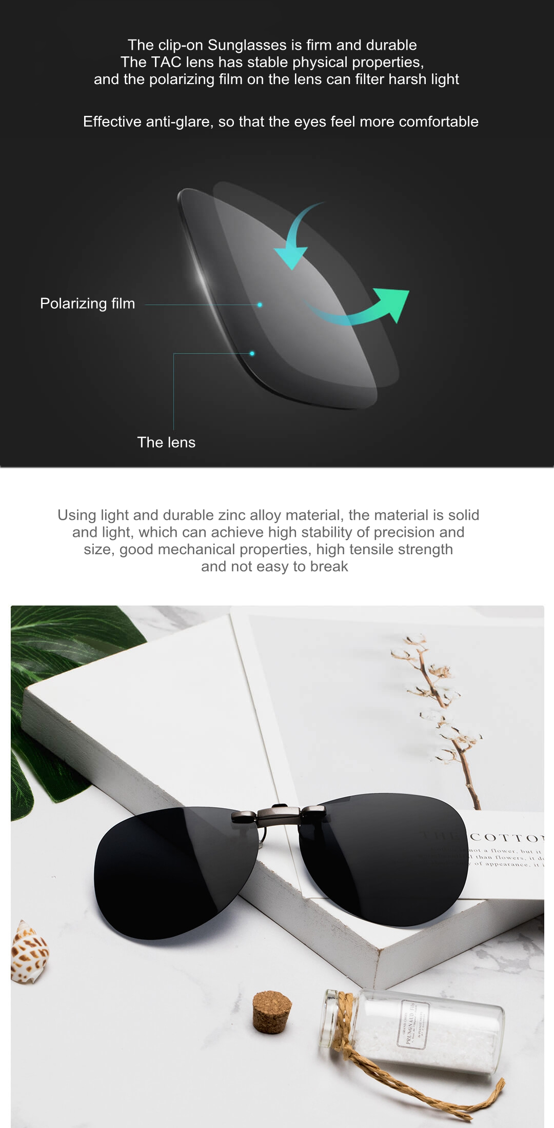 XIAOMI TS Clip-on Sunglasses 135 Degree Random Upturn
