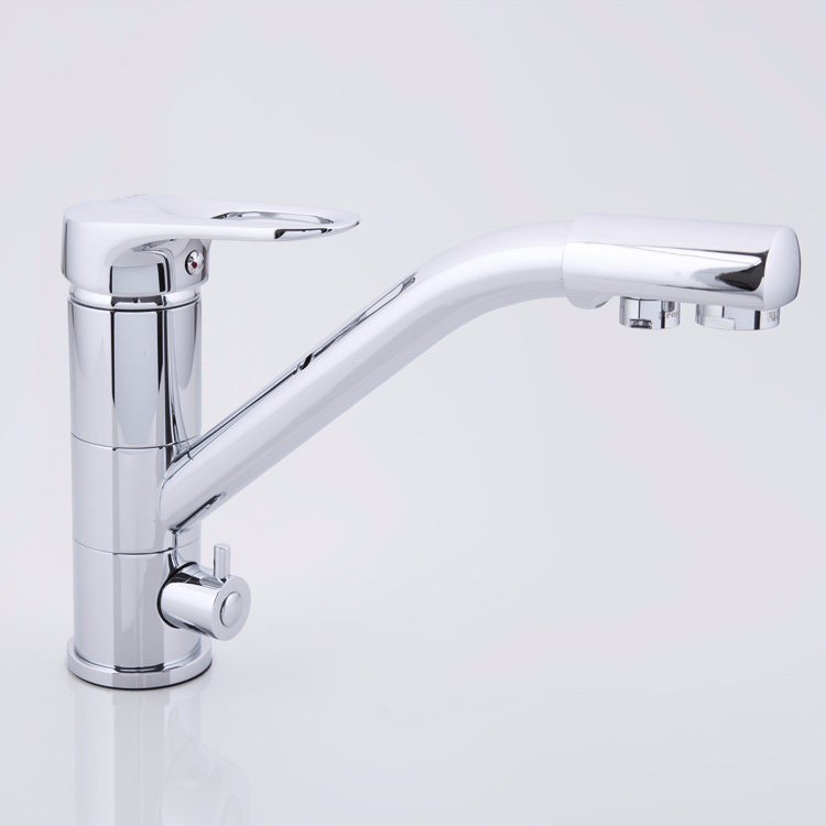 FRAP F4304 Kitchen 360 Degree Rotation Single Handle Dual Holes Water Purification Hot and Cold Water Sink Faucet