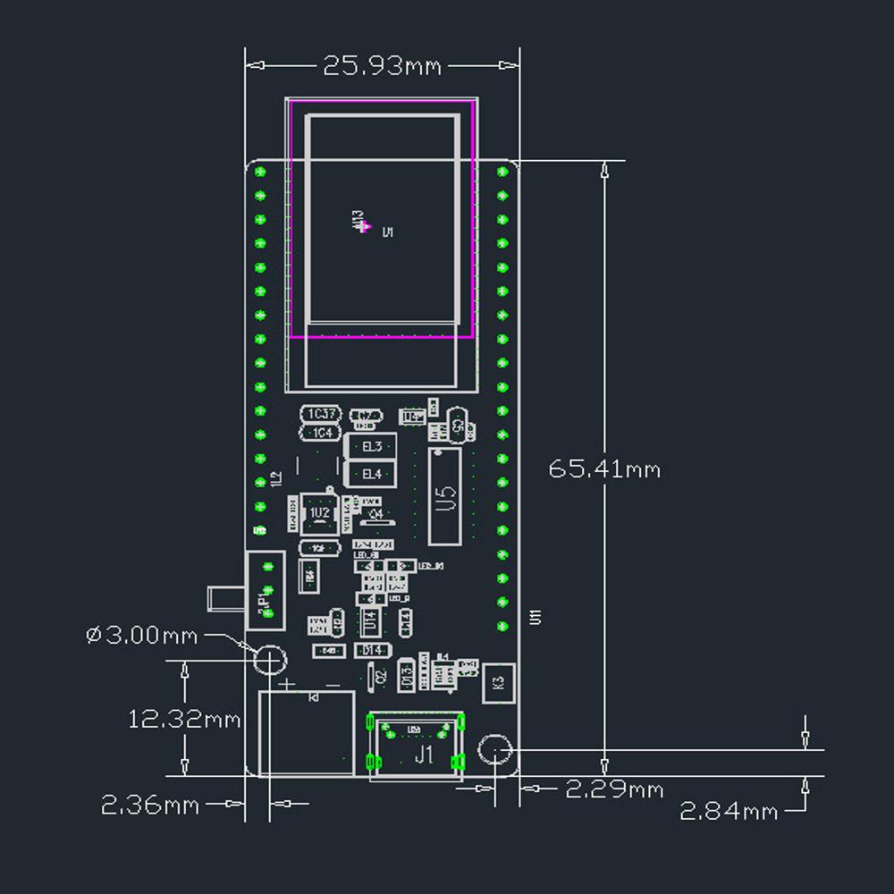 LILYGO® TTGO T-Koala ESP32 WiFi and bluetooth Module 4MB Development Board Based on ESP32-WROVER-B Type-C