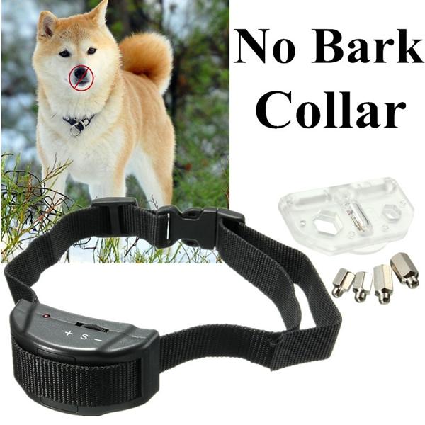 Pet Dog Training Collar Anti Bark No Barking Tone Shock for Small Medium Dog 5-150lb