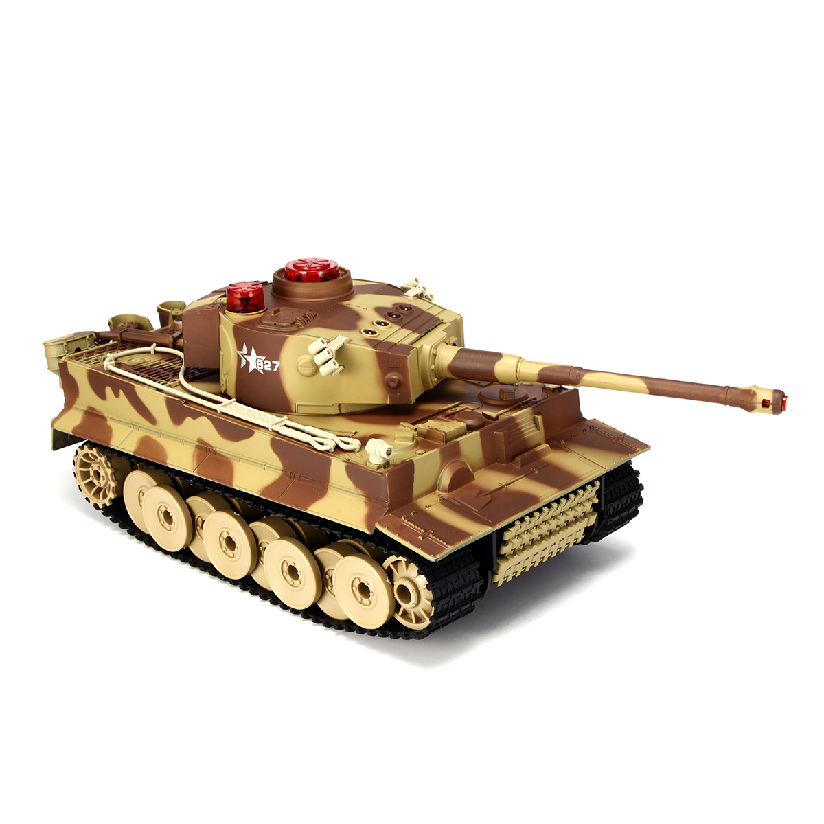 HUANQI 518 1/24 27MHZ 40MHZ RC Car Battle Tank Wireless Infrared Game Against Toys
