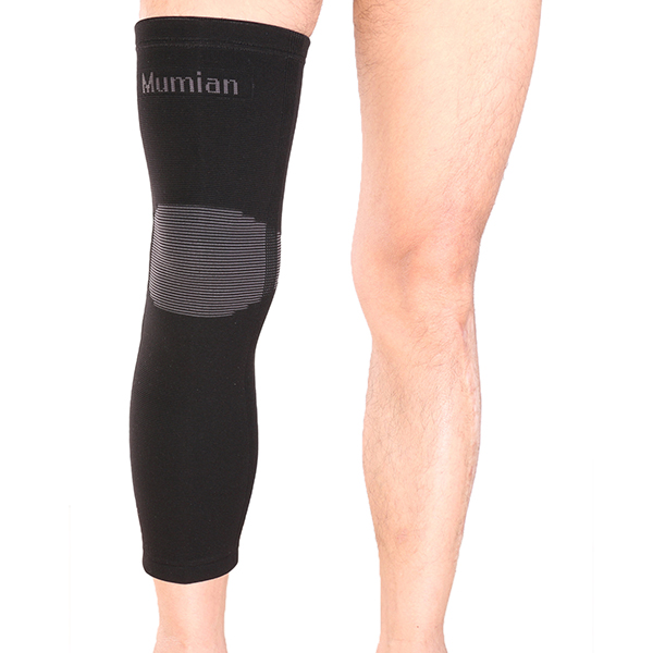 Mumian A06 Classic knitting Warm Sports Long Knee Pad Knee Brace Support Sleeve – 1PC