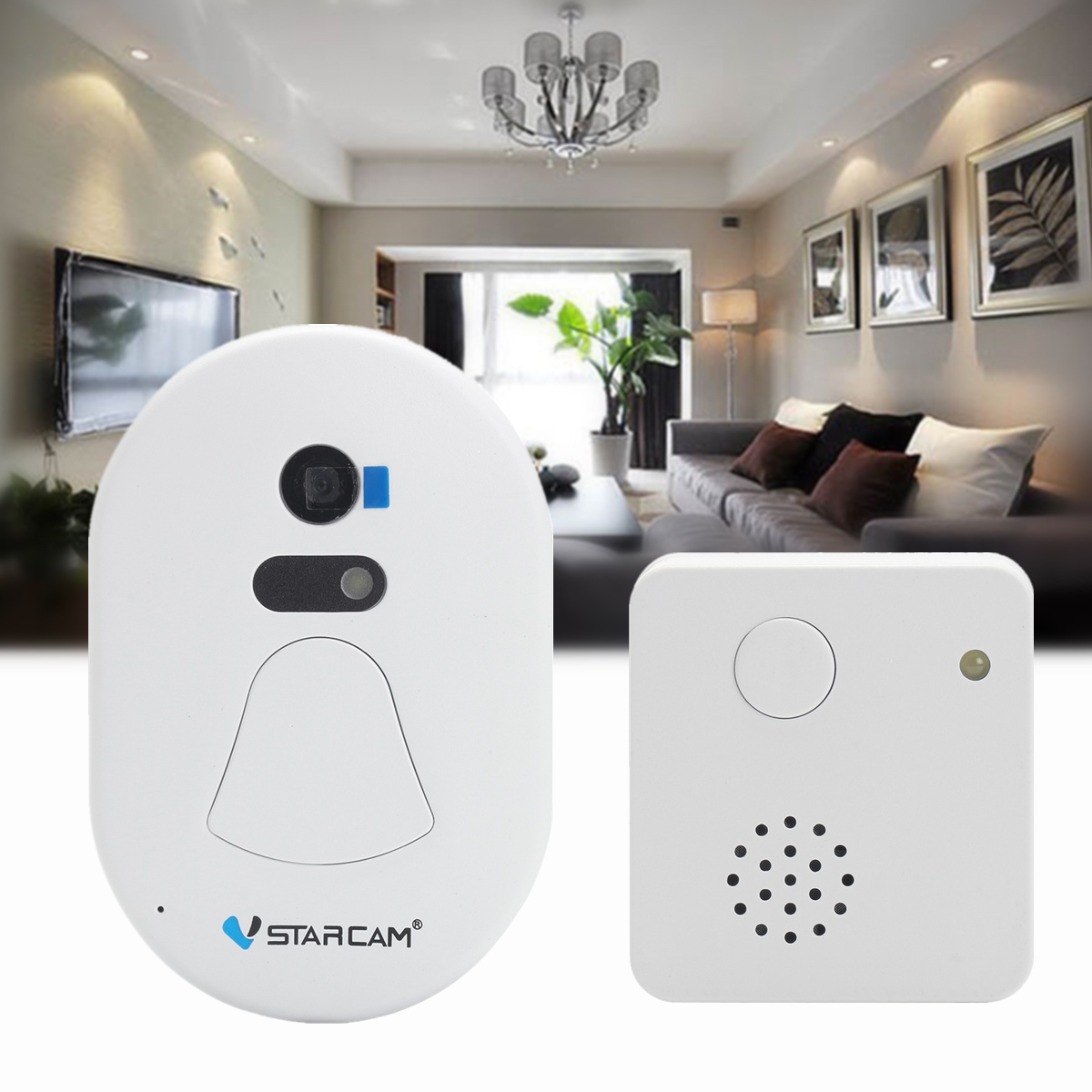 Wireless WiFi Doorbell Video Record Photo Cloud Storage Digital Alarm Doorcam