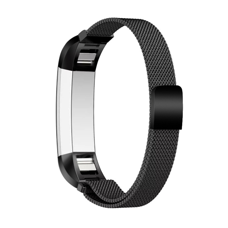 L Size Milanese Loop Stainless Steel Bracelet Watch Band For Fitbit Alta Strap Alta HR Band