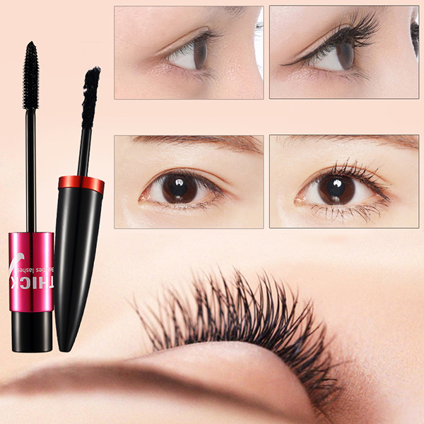 Black Silk Mascara Makeup Set Eyelashes Extension 3D Fiber