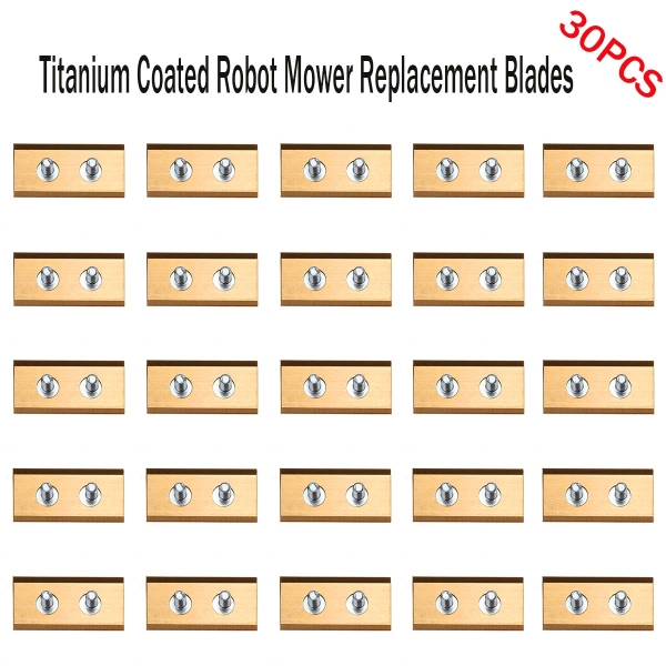 30pcs Titanium Coated Robot Mower Replacement Blades For WORX ROBOT LAWN MOWER