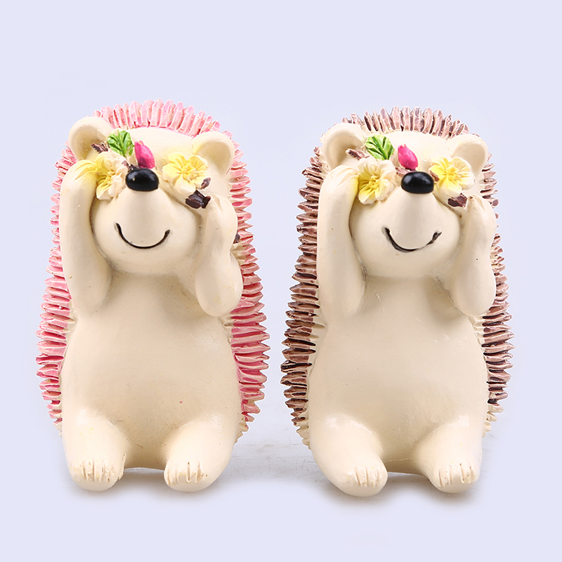 Honana Resin Shy Hedgehog Toothbrush Suction Holder Wall Mount Plug Socket Organizer Sundry Key Hook Wall Hanger