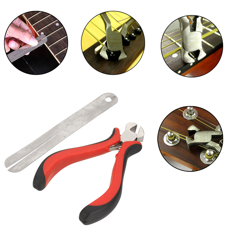 2PCS Guitar Fret Puller String Cutter Fret Protector Guards for Guitar Player