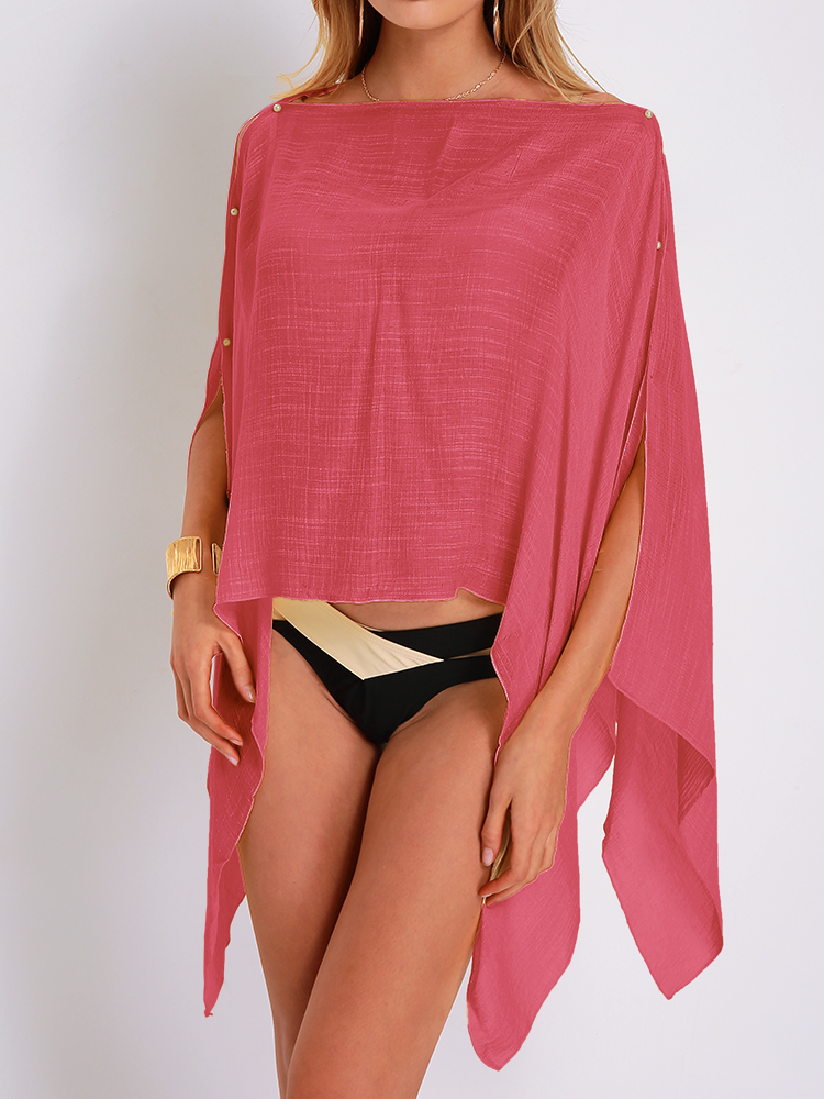 Colorful Beach Sun Protection Chiffon Scarf Cover-Ups