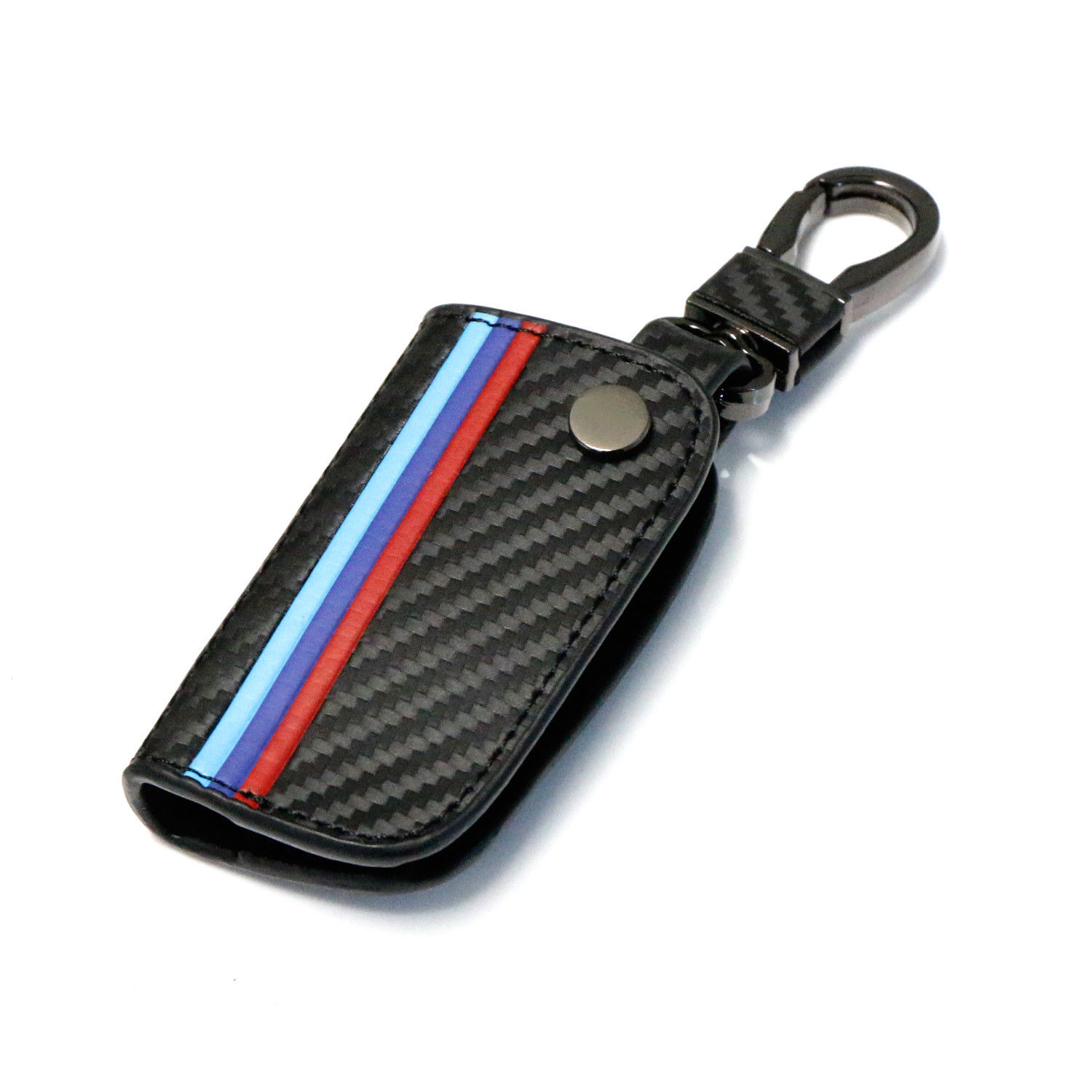 Carbon Fiber Leather Smart Remote Key Case Fob for BMW 1 3 5 6 Series X5 X6