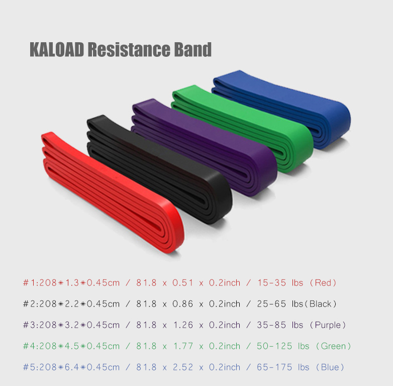KALOAD 2m Natural Latex Resistance Loop Exercise Bands Fitness Strength Training Workout Resistance Band