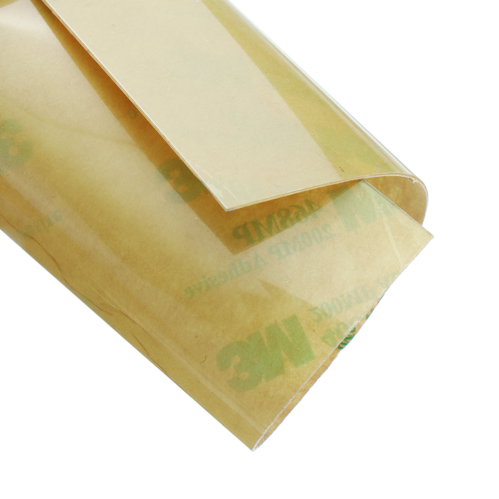 220*220*0.2mm Polyetherimide PEI Sheet With 3M Glue For Reprap Prusa i3 Mk3 Heated Bed 3D Printer Part