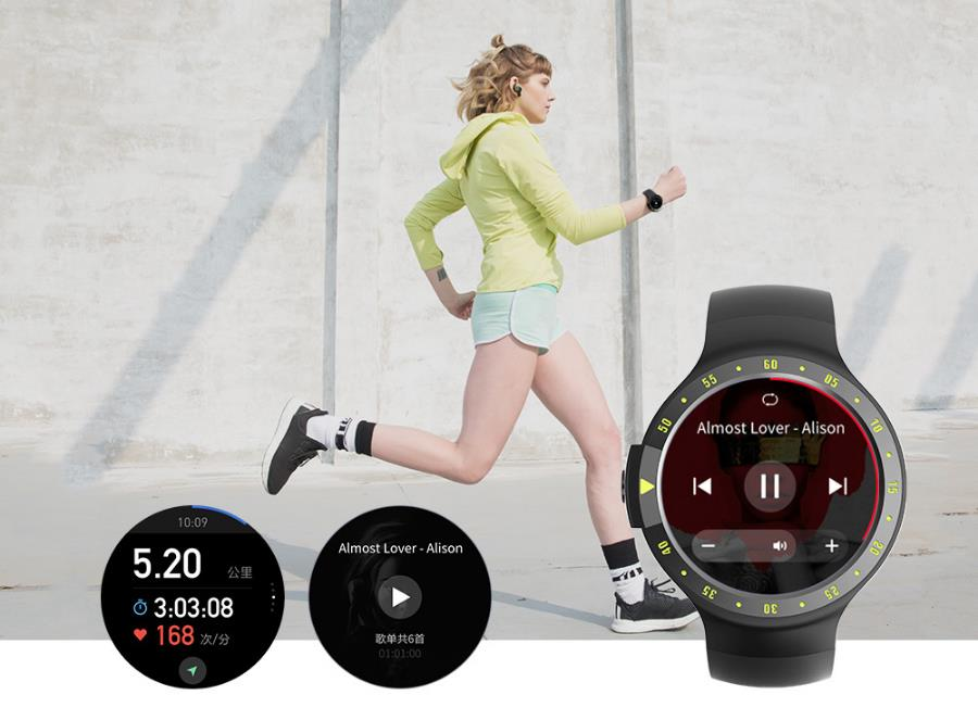 TicwatchS Sports Heart Rate bluetooth Music GPS WIFI Smart Watch