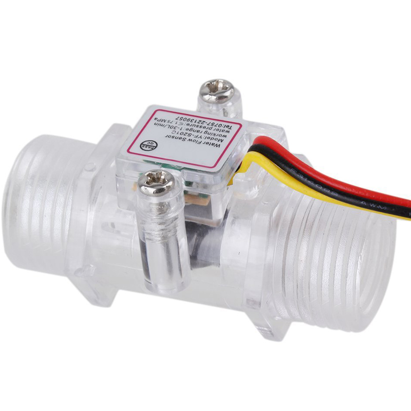 G1/2inch DN15 Transparent Water Flow Meter Flow Meter Hall Flow Sensor Indicator Counter