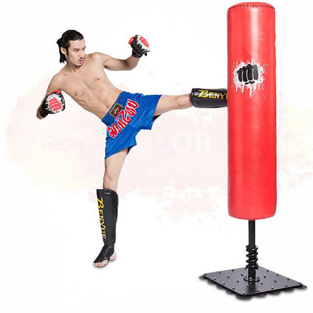 2Pcs Shin Instep Pads Leg Foot Protector PU Leather+EVA Boxing Thai Kick Muay Training Guard