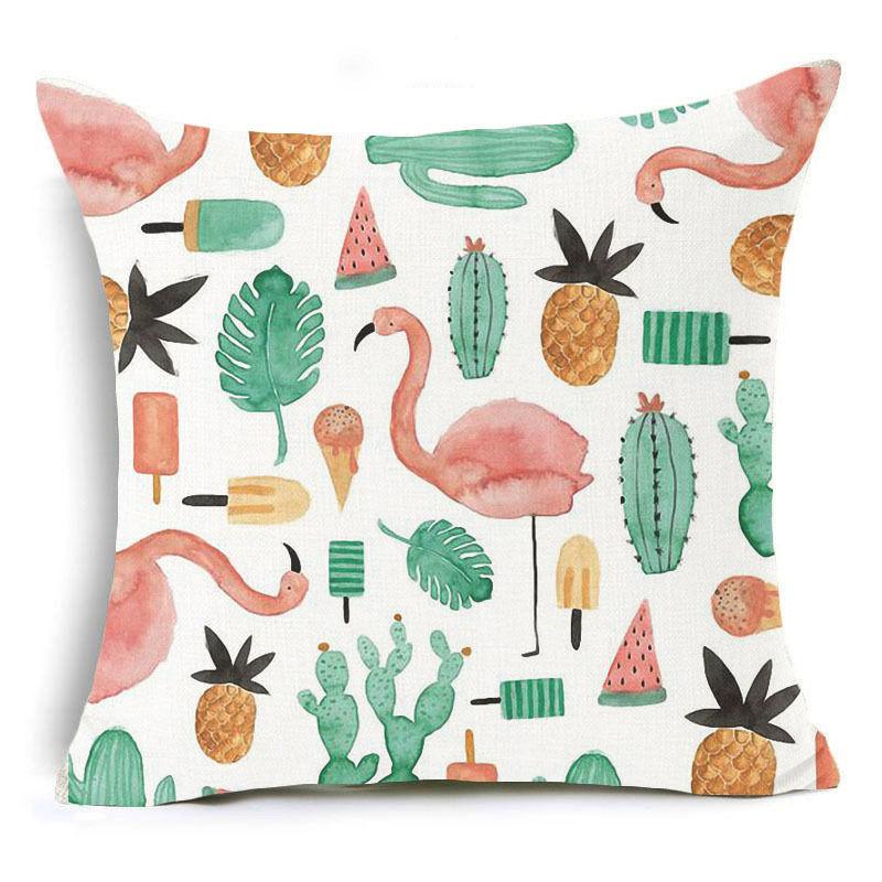 Honana 45x45cm Home Decoration Flamingo Palm Leaf Design ...