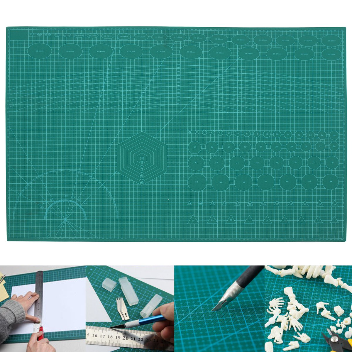 A1 DIY Self Healing Cutting Mat Professional Double Sided Flexible Fabric Rotary Mat