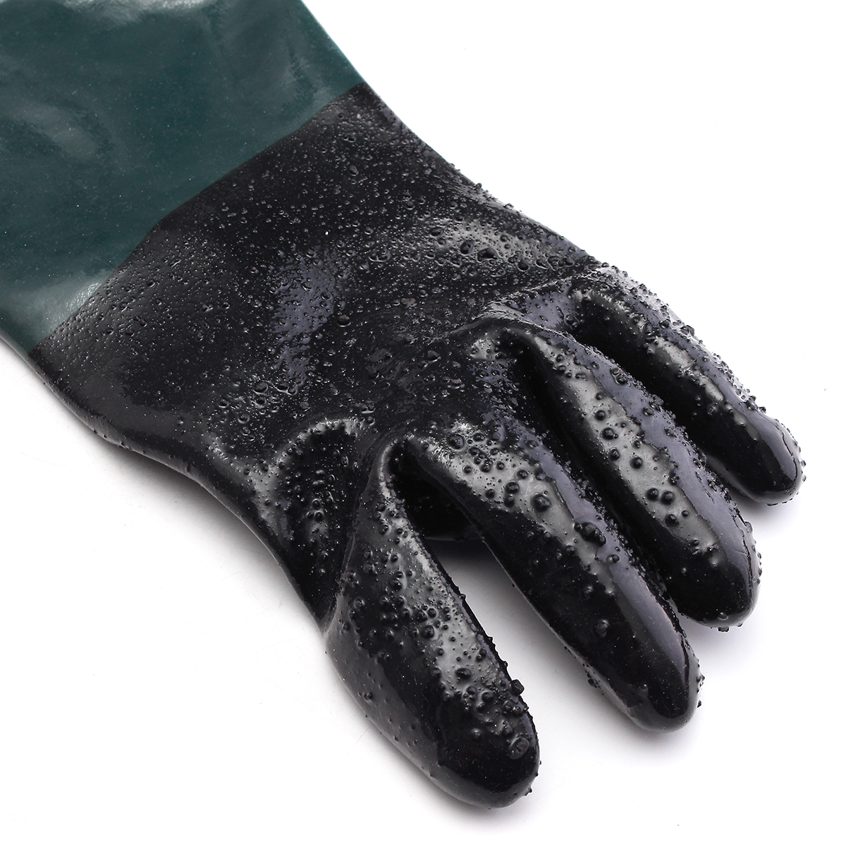 2Pcs 24Inch 60cm Rubber Gloves Replacement with Particles For Sandblast Cabinets