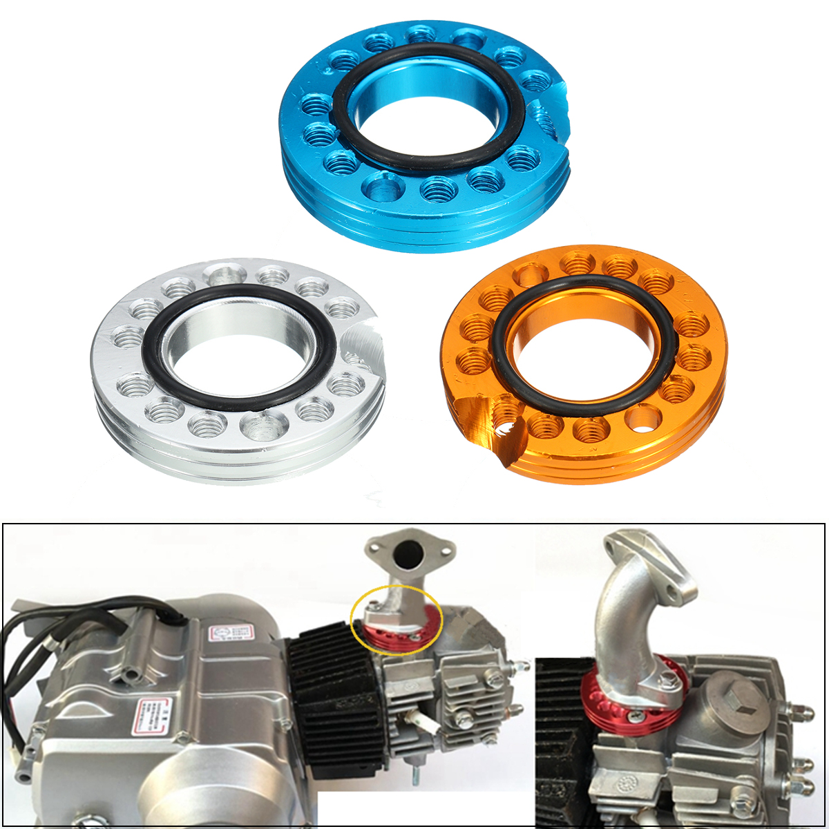 Carburettor Inlet Manifold Spinner Plate for 90cc 110cc 125cc Pit Dirt Bike ATV