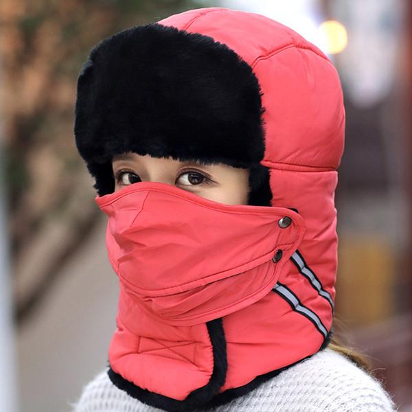 Men Women Warm Waterproof Skiing Russian Hats