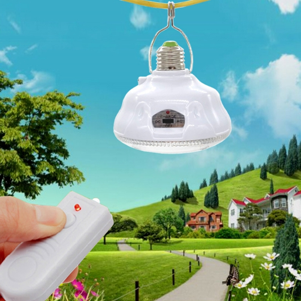 Solar Power 24 LED Remote Outdoor Yard Tent Light Emergency Camping Lamp