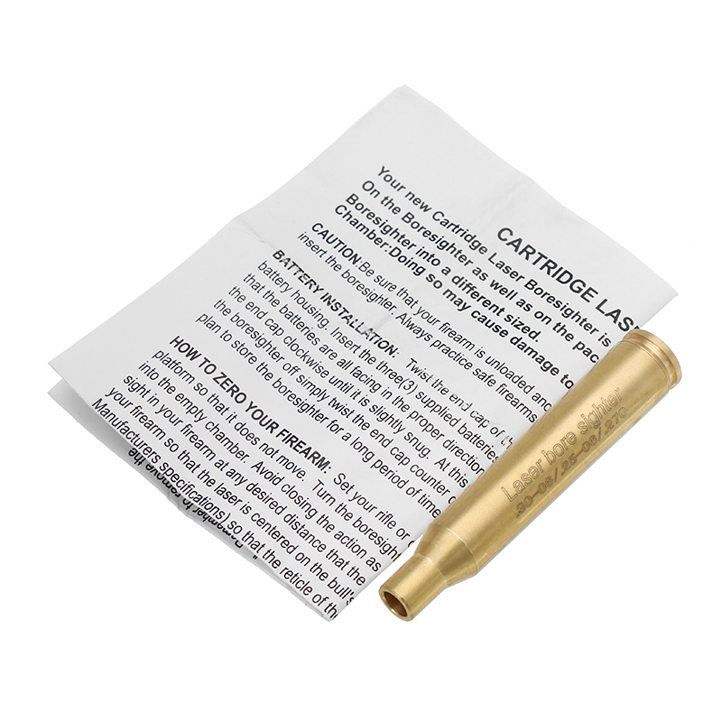 .30-06 .25-06 .270 Laser Bore Sighter Red Dot Sight Brass Cartridge Bore Sighter Caliber