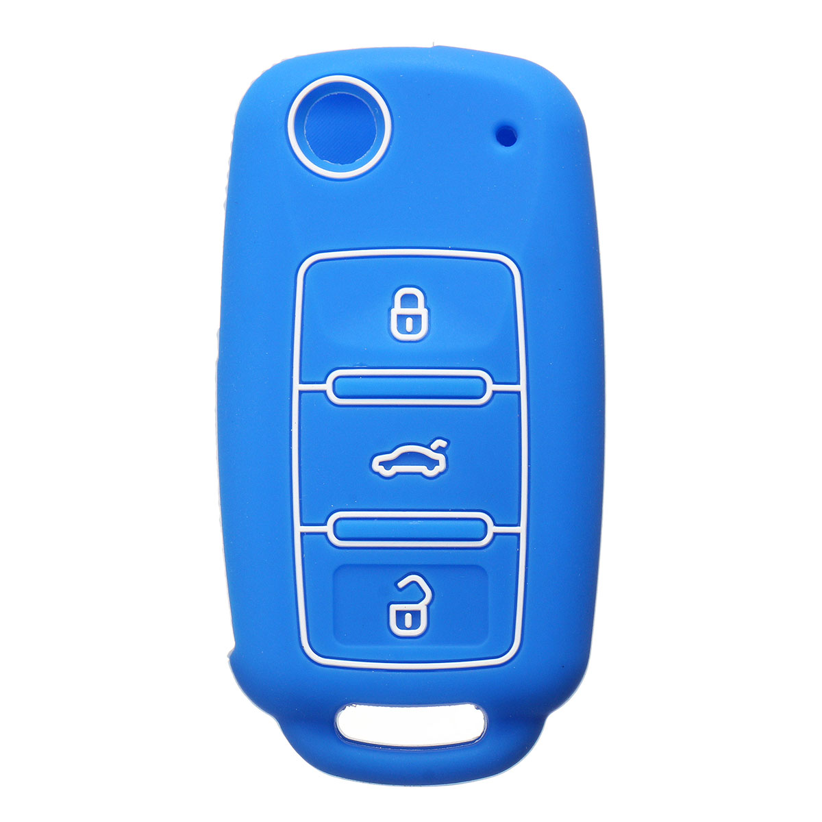 3 Button Silicone Key Cover Keyless Entry Remote Fob Shell For VW Seat For Skoda