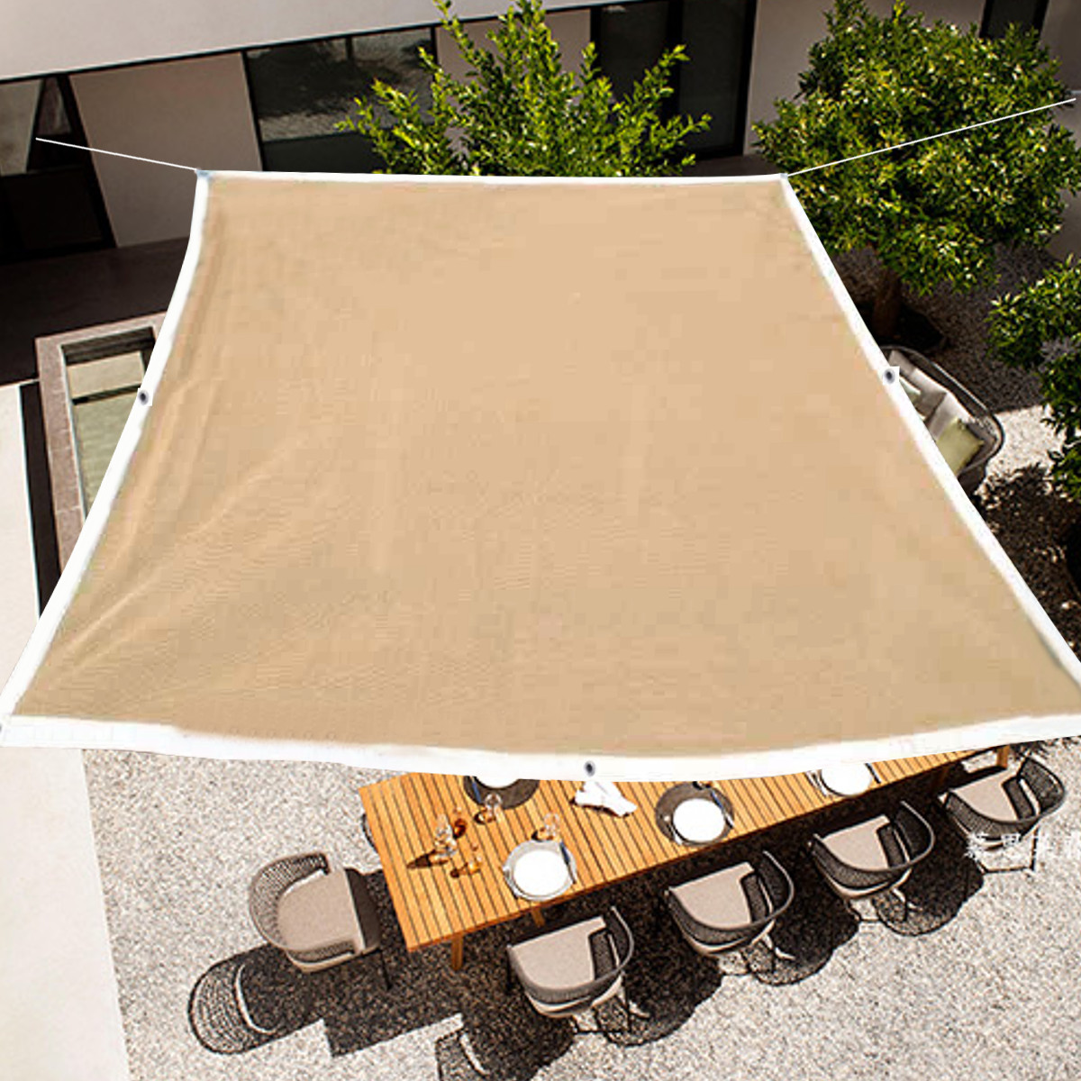 Outdoor Anti-UV Sunshade Sail Net Garden Patio Sunscreen Mesh Netting Cover