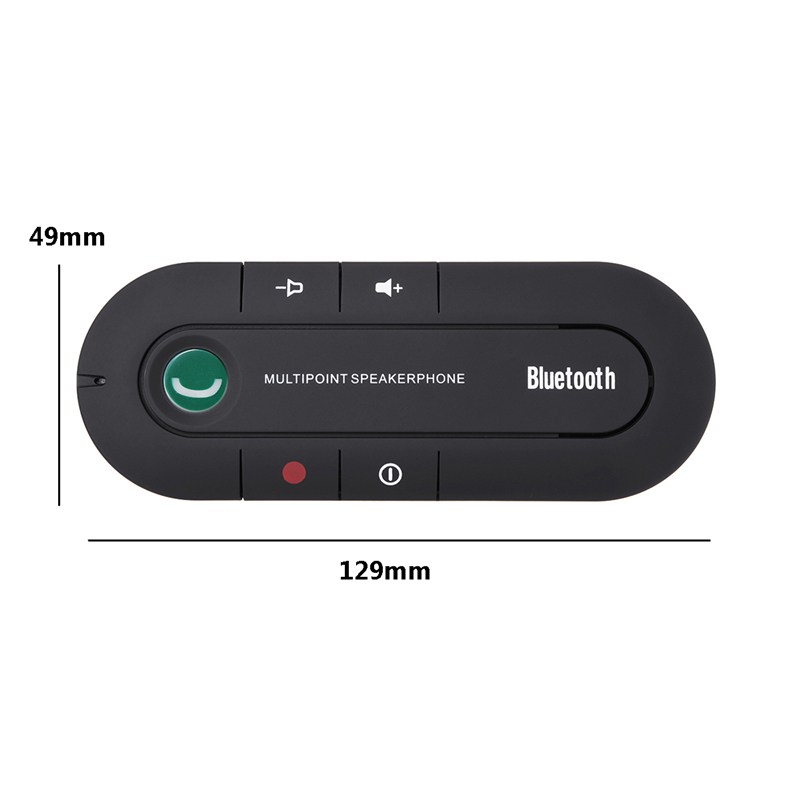 Wireless bluetooth Handsfree Receiver Car Kit Stereo Speaker Phone Sun VisorClip