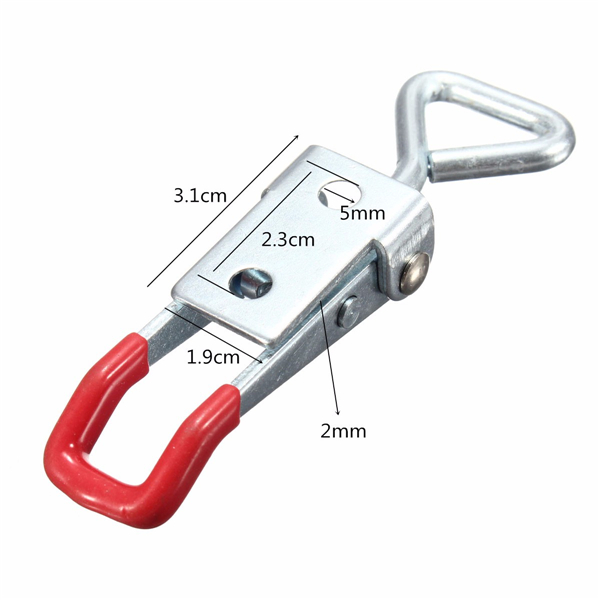5Pcs Adjustable Toggle Clamp 100KG/220lbs Quick Holding Capacity Latch Hand Tool