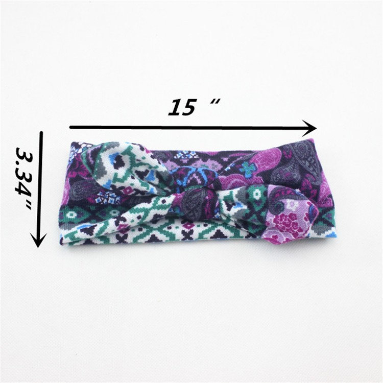 Kids Girl Baby Toddler Flower Headbrand Hair Wear Floral Colorful Infant Bowknot Fabric Accessories
