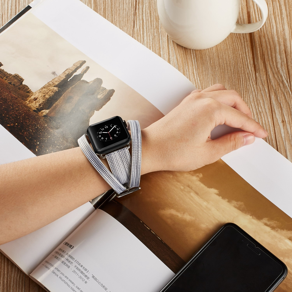 Colorful Leather Strap Watch Band for Apple Watch Series1 Series2 Serie3 Serie4