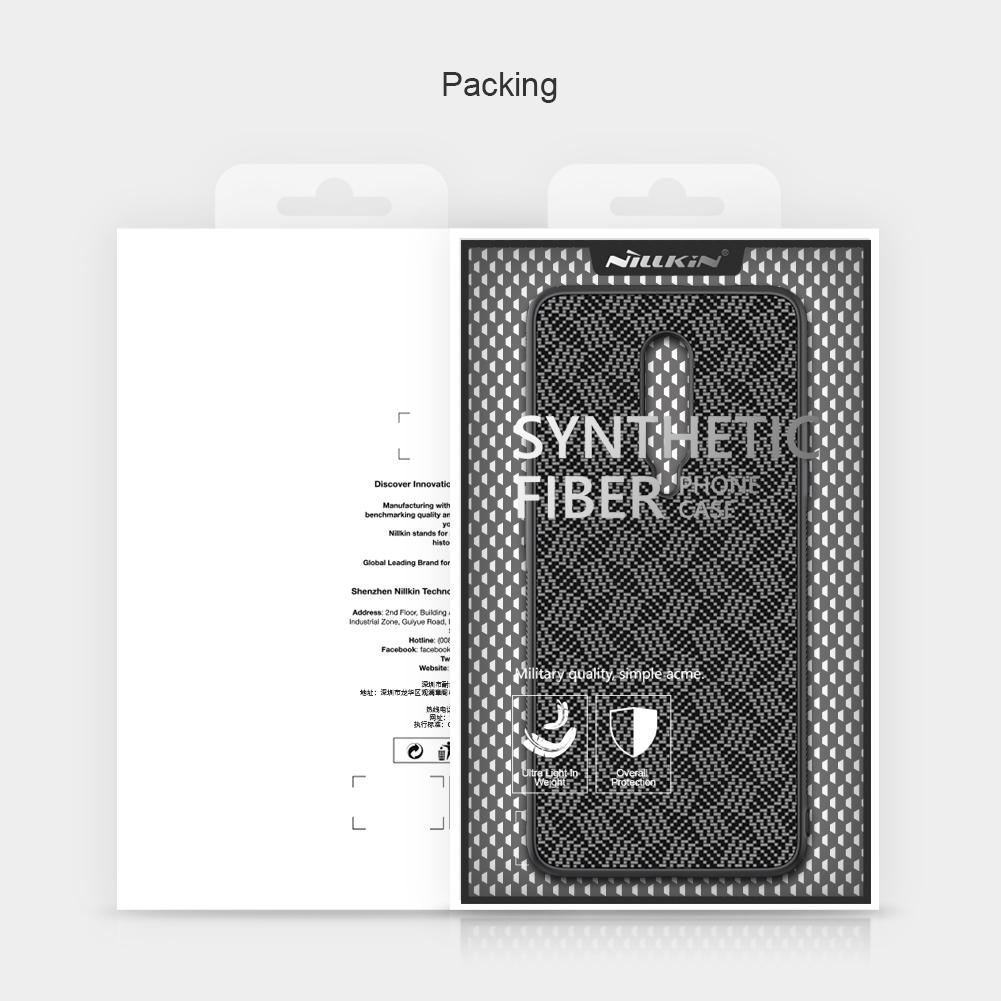 NILLKIN Slight Synthetic Fiber Plaid Anti-scratch Anti-fingerprint Protective Case for OnePlus 7 Pro