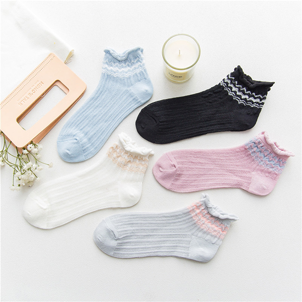 Women's Summer Breathable Thin Elastic Ankle Socks