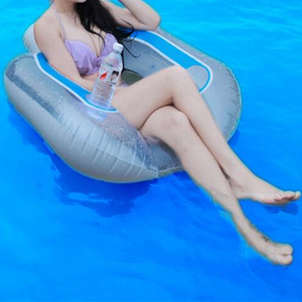 Pool Inflatable Float Bed Adult Swim Learning Safety Ring Water Kickboard