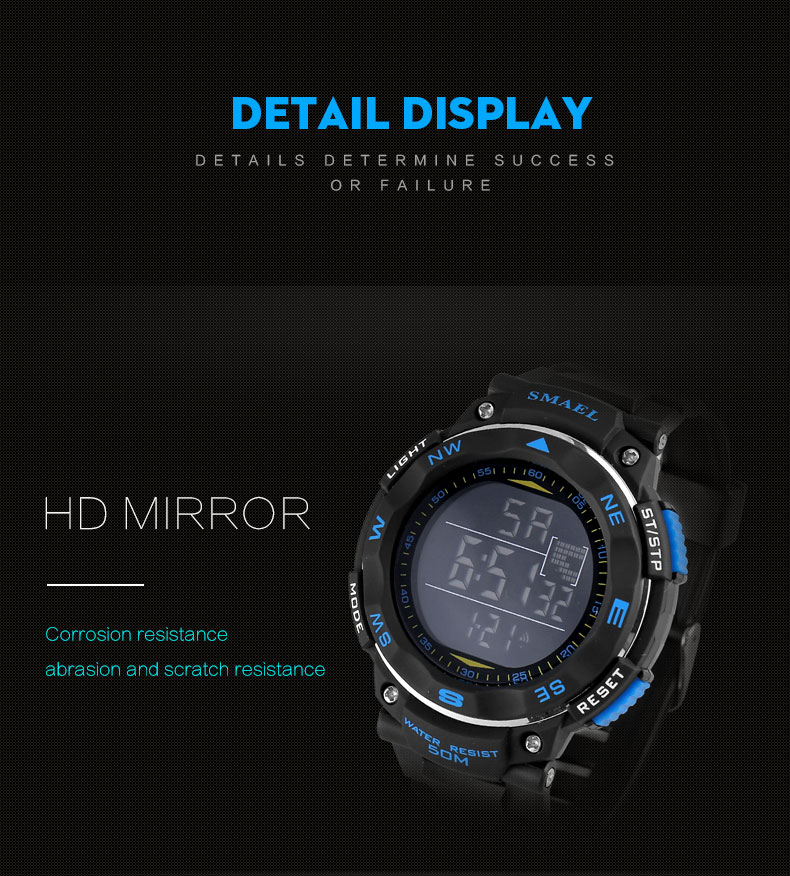 SMAEL 1235 Outdoor Sport Watch Casual Style Clock LED Digital Watches