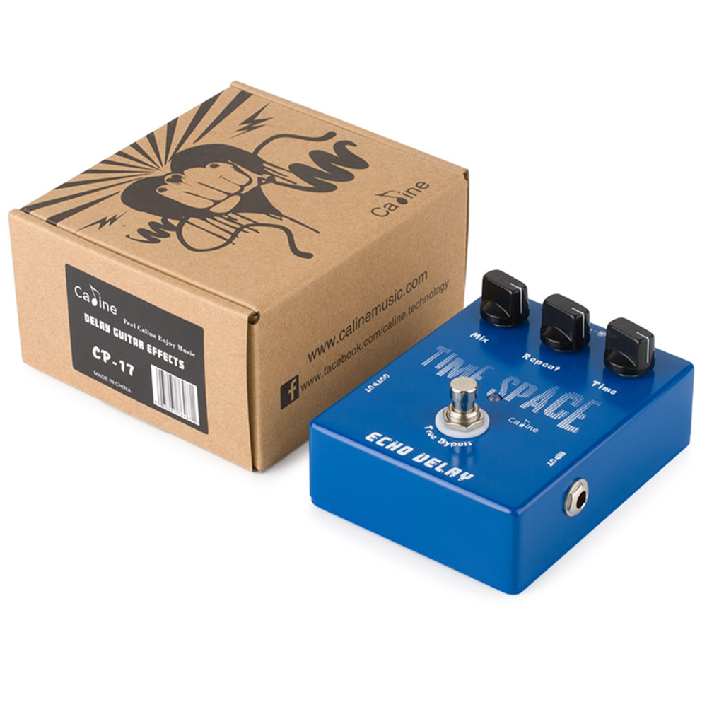 Caline CP-17 Time Space Echo Delay Guitar Effects Pedal Digital Delay 600ms Max Effect