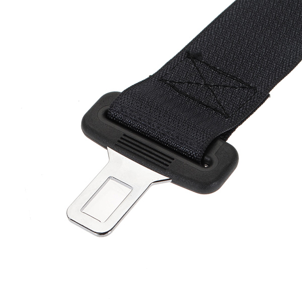 1 Pc Black Car Seat Belt Extension Extender Safety Buckle Receiver