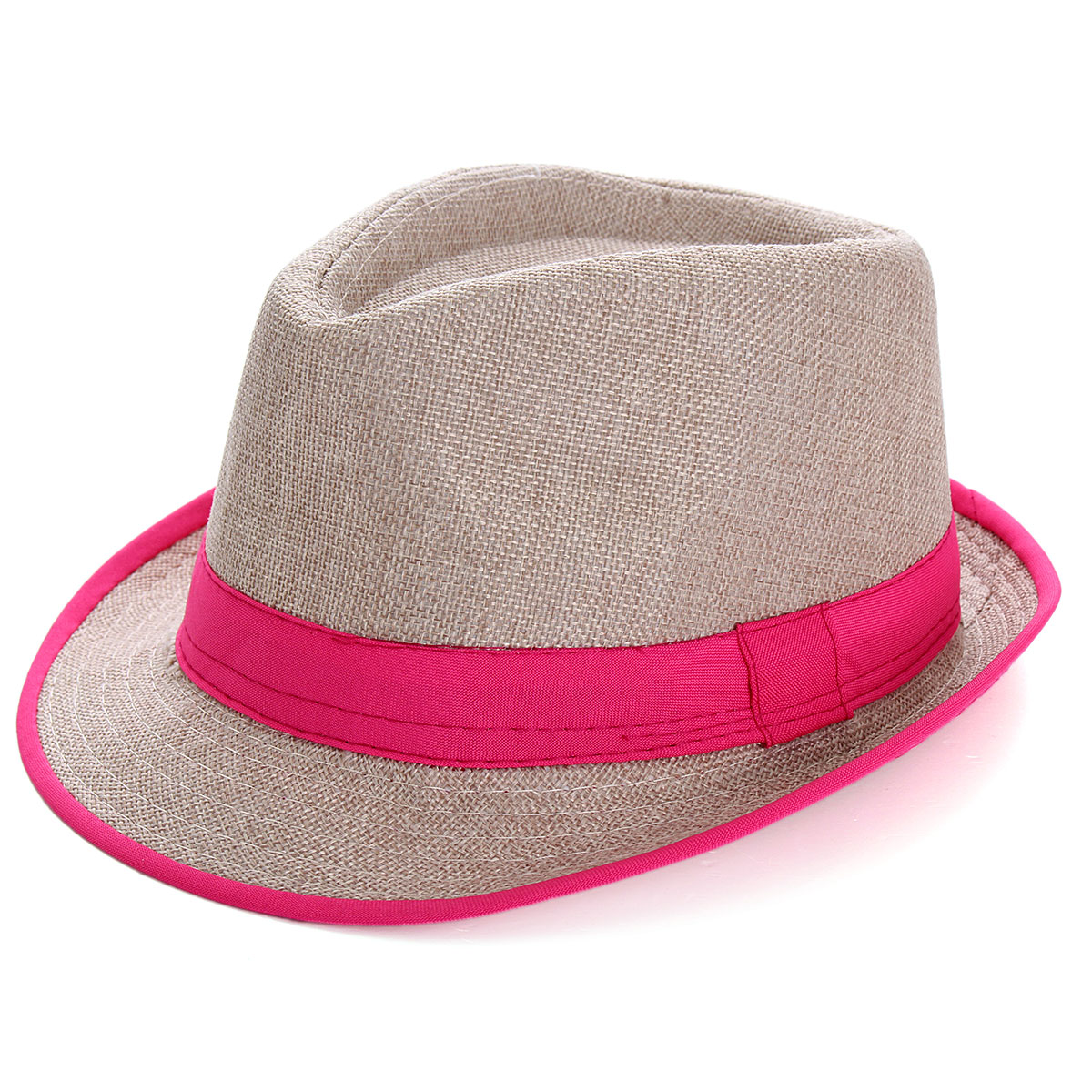 Unisex Men Women Panama Fedora Sun Cap Trilby Straw Gangster Beach Jazz Hat