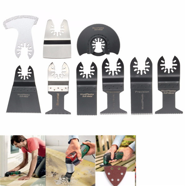 12pcs Saw Blades Oscillating Multitool for Fein Bosch Porter Dremel Ridgid Oscillating Tools