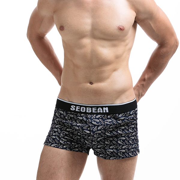 Mens Home Arrow Shorts Printing Cotton Sport Loose Boxer