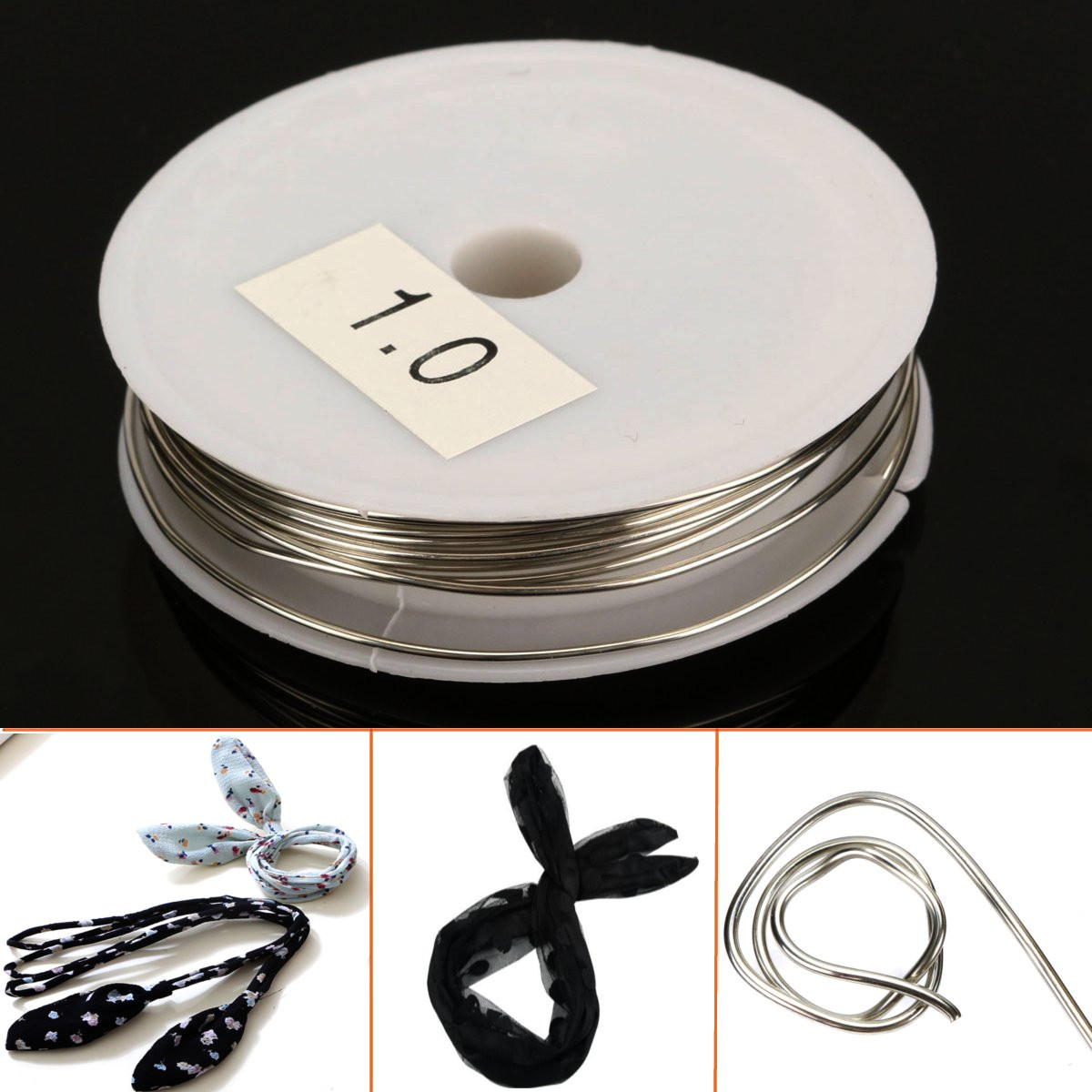 1mm Diameter 3M Hair Silver Copper Wire Jewelry Accessories Line Shape
