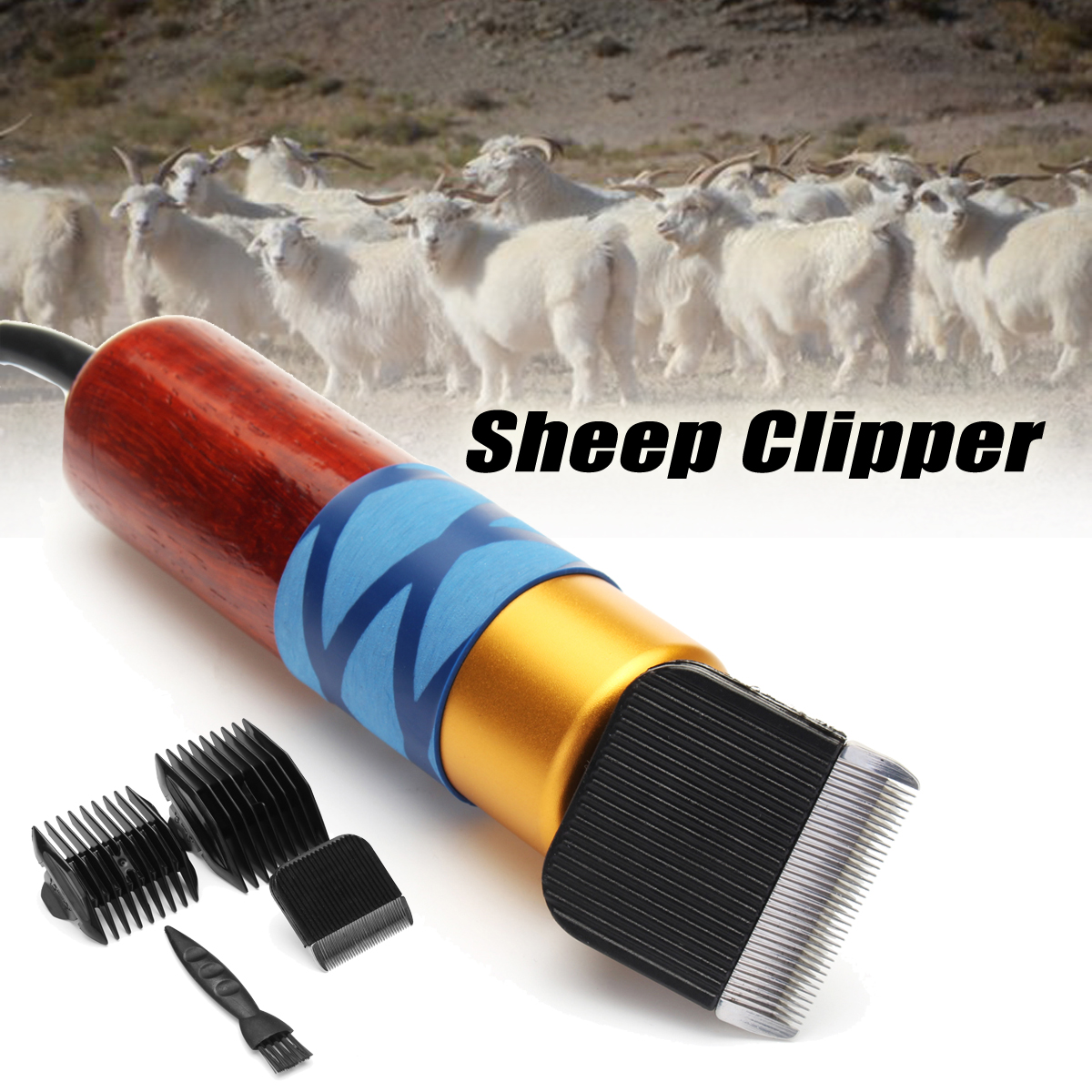 200W Sheep Clipper Professional Dog Grooming Kit For Rabbit Pet Dog Grooming Tools