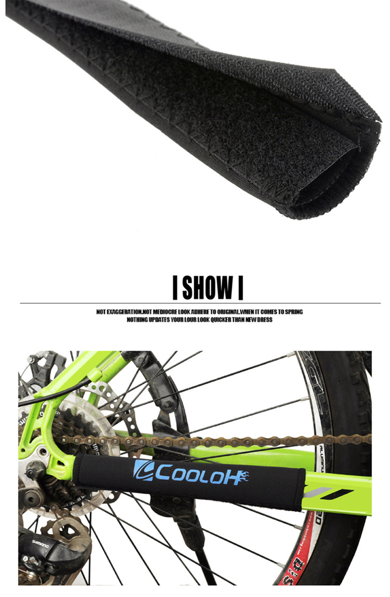 BIKIGHT Mountain Bicycle Chain Cover Pad Cycling Bike Chain Protective Sticker Front Fork Cover