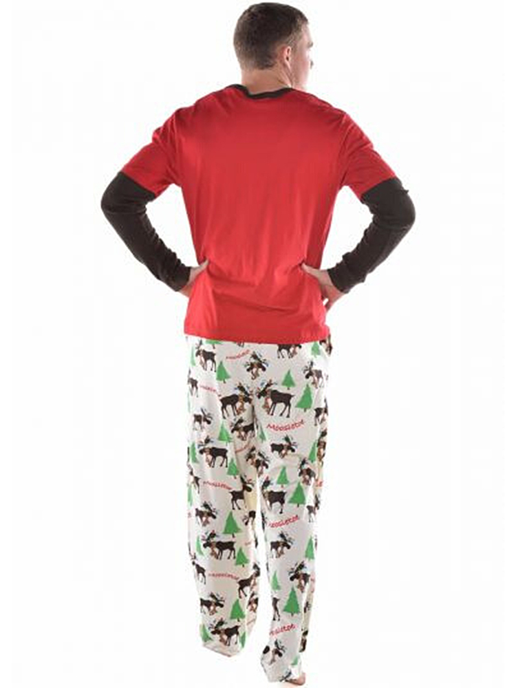 Fawn Print Christmas Parent-Child Home Tracksuit Set