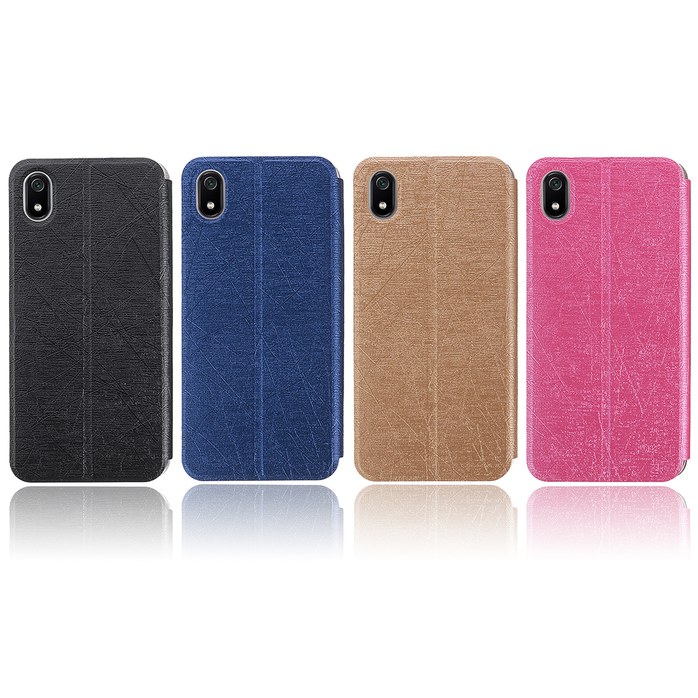 Bakeey Flip Shockproof Brushed Texture PU Leather Full Body Cover Protective Case for Xiaomi Redmi 7A
