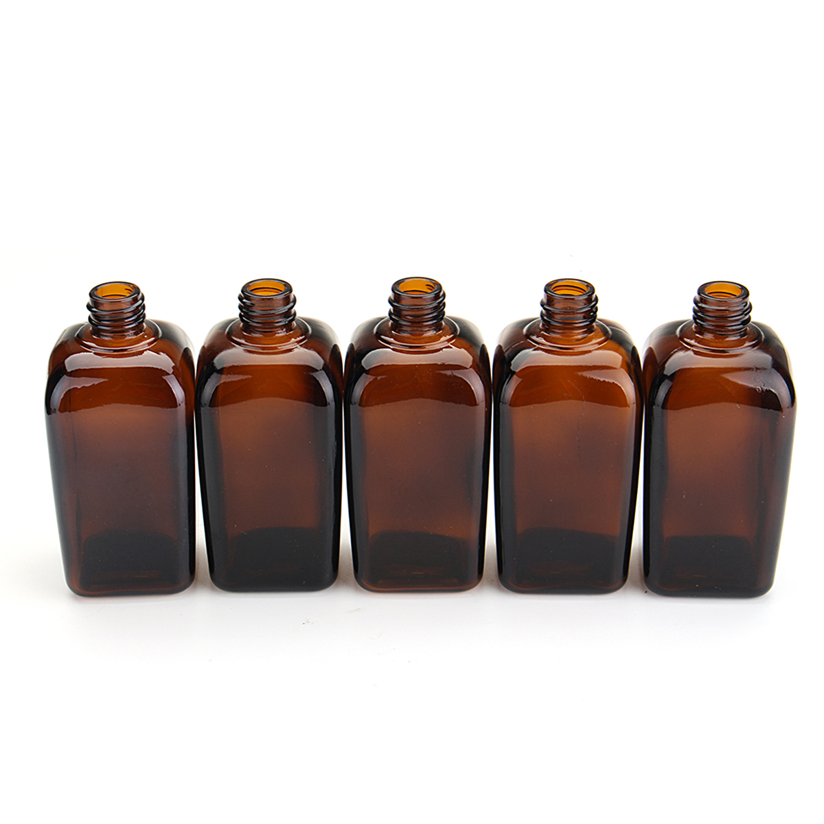 5Pcs Amber Glass Spray Bottles