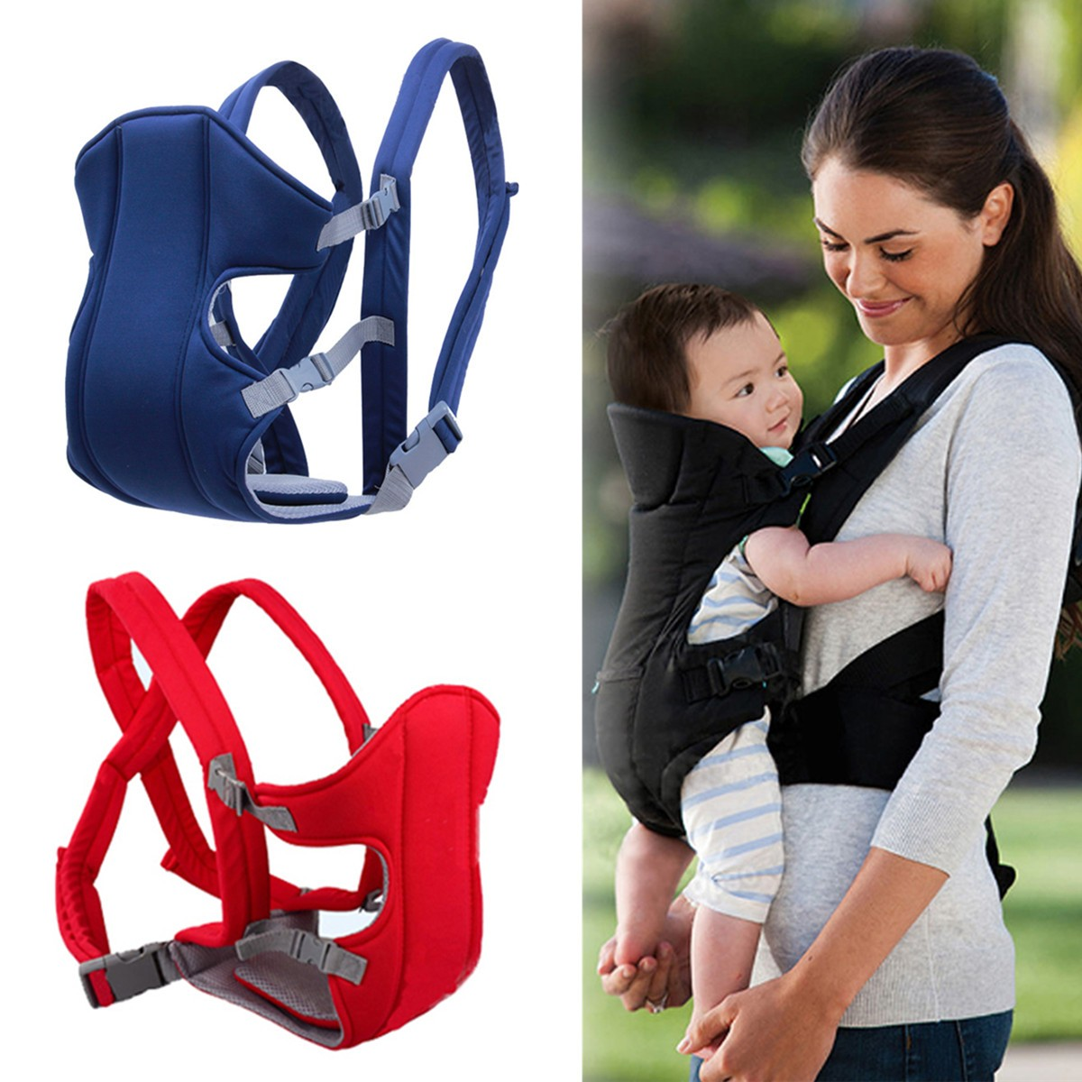 Newborn Baby Kid Infant Carrier Backpack Front Back Rider Sling Comfort Wrap Bag Baby Carriers