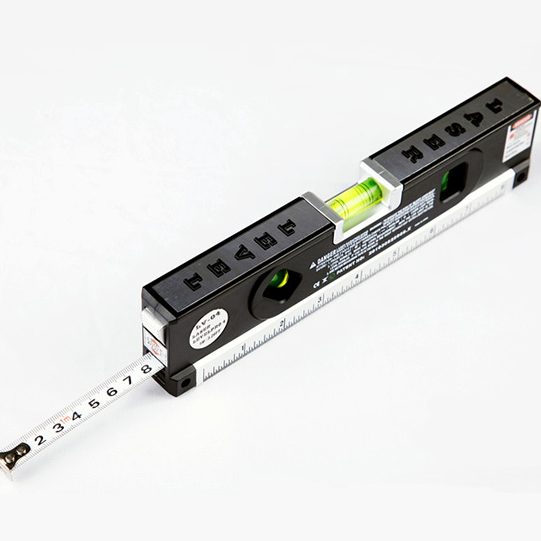 Loskii DX-012 Multipurpose Laser Level Horizontal Vertical Measure Tape Aligner Ruler With 3 Bubbles